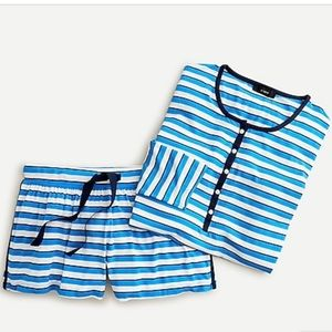 Jcrew Stripe Soft Henley Pajama Set